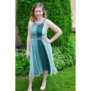 BRAND NEW Green High-Low Modcloth Dress
